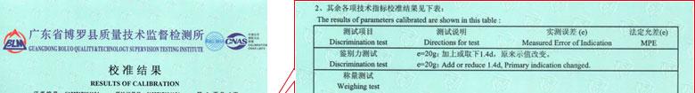 地磅衡器检定证书报告结果页