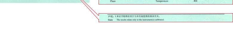 电离辐射仪器校准证书报告说明页