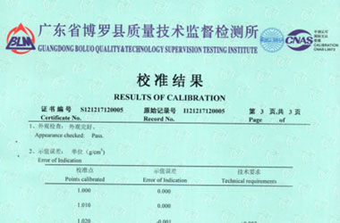 医疗仪器设备检定证书报告结果页图片